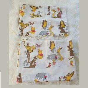 Vintage Sears Winnie the Pooh Standard Pillowcases